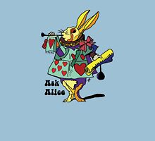 Alice in Wonderland - The White rabbit Two - Ask Alice Unisex T-Shirt