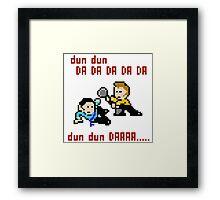 8bit Spock Kirk Amok Time Framed Print