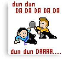 8bit Spock Kirk Amok Time Canvas Print