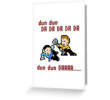 8bit Spock Kirk Amok Time Greeting Card