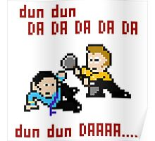 8bit Spock Kirk Amok Time Poster