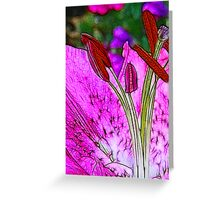 Fractalius Flower Greeting Card