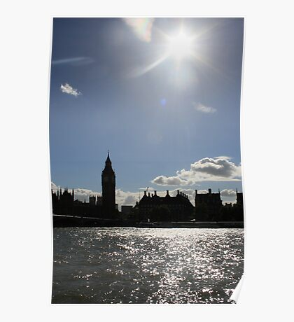 Big Ben, River Thames Poster