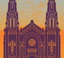 Quebec vintage poster Sticker