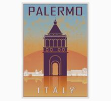 Palermo vintage poster One Piece - Short Sleeve