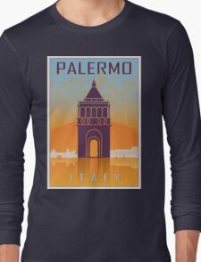 Palermo vintage poster Long Sleeve T-Shirt
