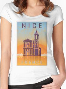 Nice vintage poster Women's Fitted Scoop T-Shirt