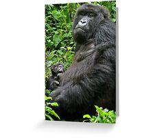 Gorilla Momma Greeting Card