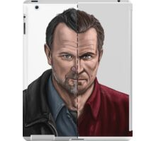 The thin line between... part 2 iPad Case/Skin