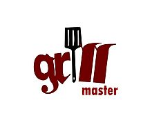 Grill master geek funny nerd Photographic Print