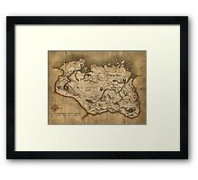 Skyrim map Framed Print