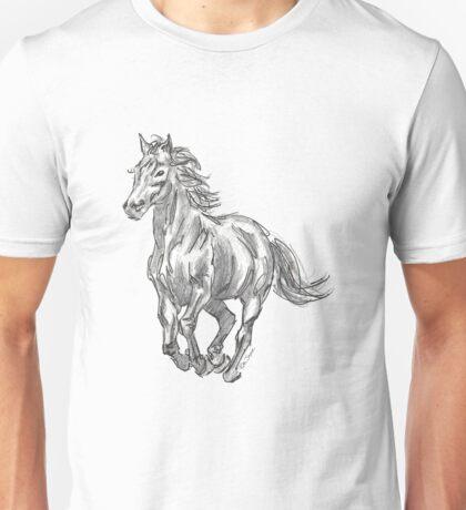 The Valiant Beast - Running Horse Unisex T-Shirt