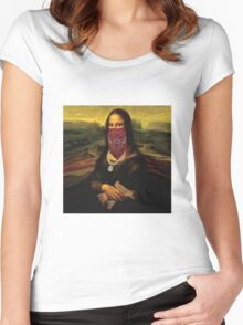 Thug Life Mona Lisa Women's Fitted Scoop T-Shirt