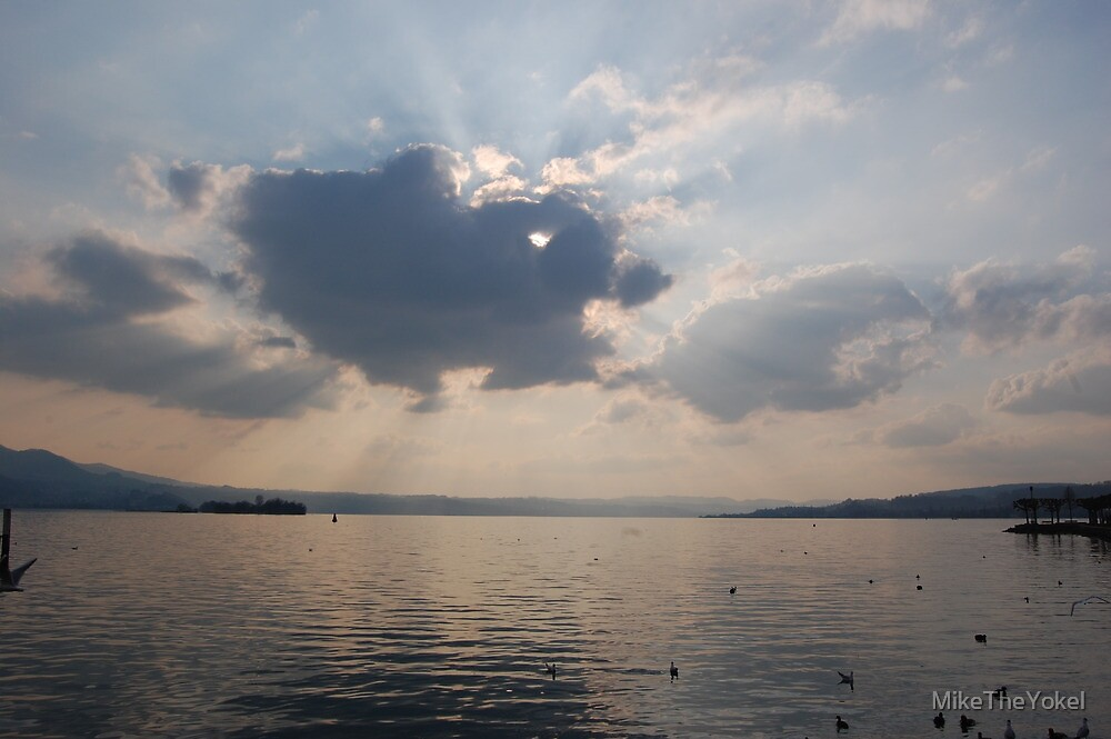 Clouds over Lake zurich by MikeTheYokel