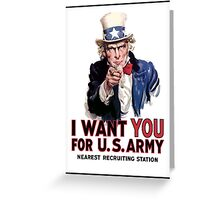 "Uncle Sam ""I Want You""  Greeting Card"
