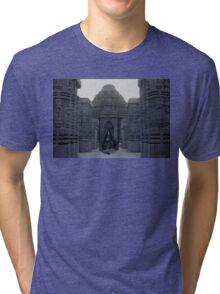 Itachi IRL uchiha temple Tri-blend T-Shirt