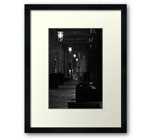 a night time stroll Framed Print