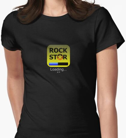iphone Rockstar App Girly fit Womens Fitted T-Shirt