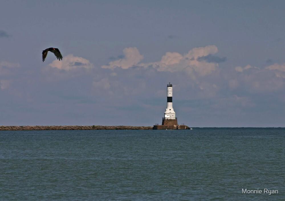 Conneaut West Breakwater Lighthouse by Monnie Ryan