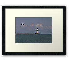 Conneaut West Breakwater Lighthouse Framed Print