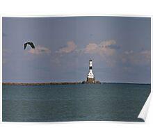 Conneaut West Breakwater Lighthouse Poster