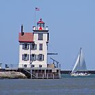 Lorain Lighthouse by Monnie Ryan