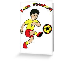Love football - Kids Clothing+Products Design Greeting Card