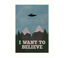 X-Files Twin Peaks mashup v2 Art Print