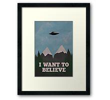 X-Files Twin Peaks mashup v2 Framed Print