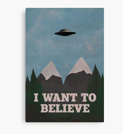 X-Files Twin Peaks mashup v2 Canvas Print