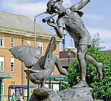 Boy and the Goose Statue, Derby by Rod Johnson