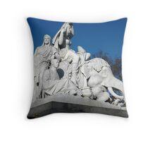 ''Asia'' sculpture by John Henry Foley. Throw Pillow