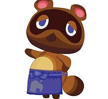 Tom Nook Animal Crossing Print Vector by niymi