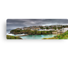 Port Isaac Panorama Canvas Print