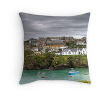 Port Isaac Panorama Throw Pillow