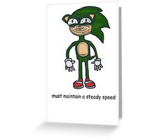 Fast Pace Blonic Greeting Card