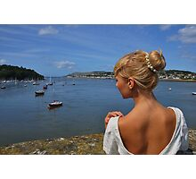 Blonde beauty picturesque Conwy harbour and coast, North Wales Photographic Print