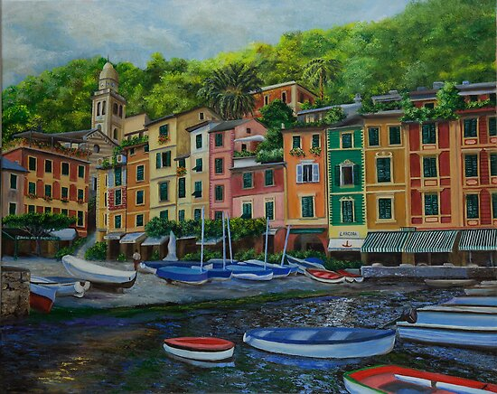 A Day In Portofino East by Charlotte  Blanchard