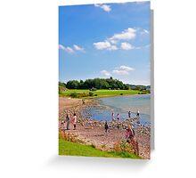 Beach Fun at Carsington Water Greeting Card