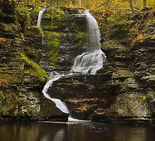 Fulmer Falls In Autumn by Stephen Vecchiotti