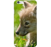 Just smelling the flowers _ Arctic Wolf Pup iPhone Case/Skin
