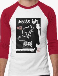 Mouse Rat Concert Poster Men's Baseball ¾ T-Shirt