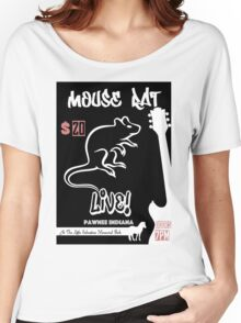 Mouse Rat Concert Poster Women's Relaxed Fit T-Shirt