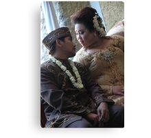bride and groom Canvas Print