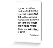 Rocky Balboa Quote How Hard You Get Hit Greeting Card