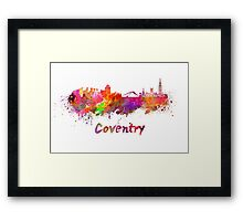 Coventry skyline in watercolor Framed Print