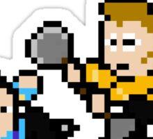 8bit Spock Kirk Amok Time Sticker
