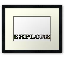 explore cutout  Framed Print
