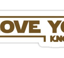 Star Wars - I Love You Sticker
