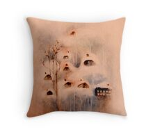 somebody burning the wood stove  * special order prints: tokikoandersonart@gmail.com Throw Pillow
